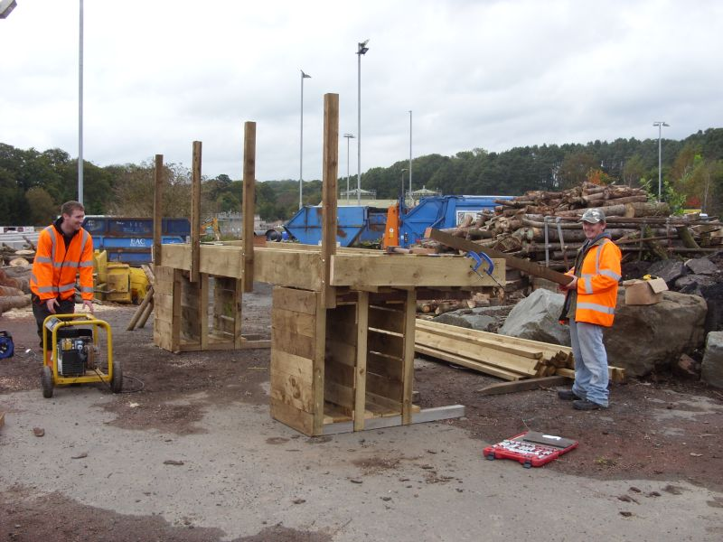 Preparing footbridge off site