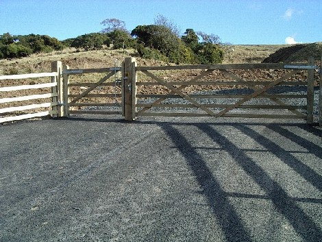 New entrance gate
